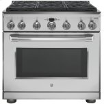 "GE CafeGE CAFEGE Cafe(TM)  36"" Dual Fuel Professional Range with 6 Burners (Natural Gas)"