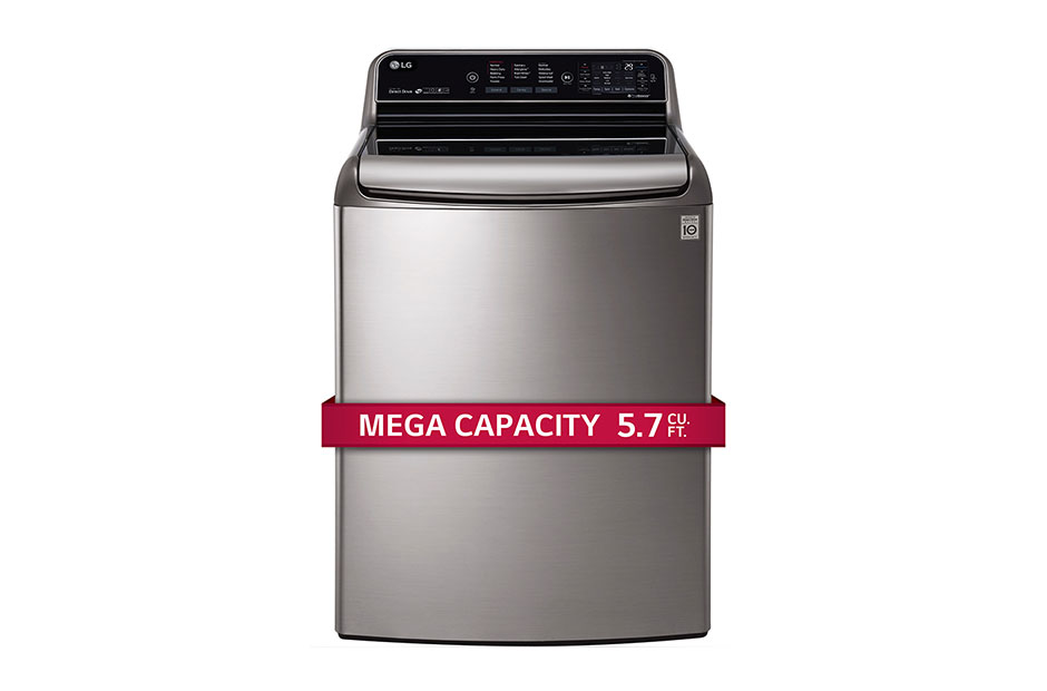 5.7 CU. FT. Mega Capacity Top Load Washer Turbowash Technology