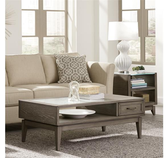 Hidden · Additional Vogue Coffee Table Gray Wash Finish