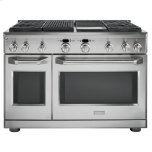 "GE MonogramMONOGRAMMonogram(R) 48"" Dual-Fuel Professional Range with 4 Burners, Grill, and Griddle (Natural Gas)"
