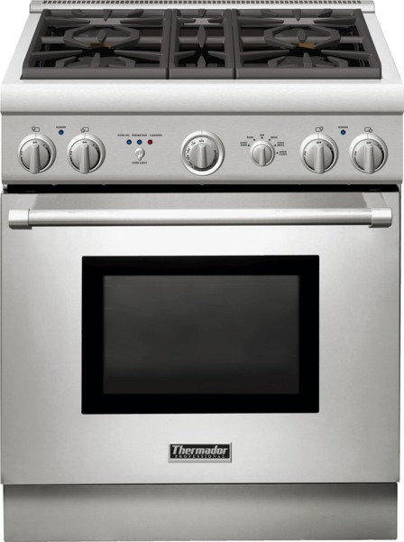 thermador 30 inch dual fuel range PRD304GHU