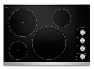 """30"""" Electric Cooktop with 4 Radiant Elements - Stainless Steel"""