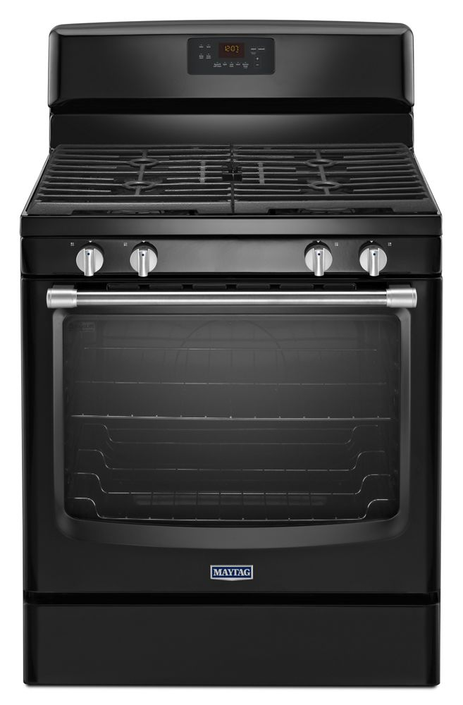 30-inch Wide Gas Range with Precision Cooking System - 5.8 cu. ft.  Black