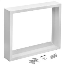 Surface Mount Kit, White enameled steel, For High Capacity Wall Heaters