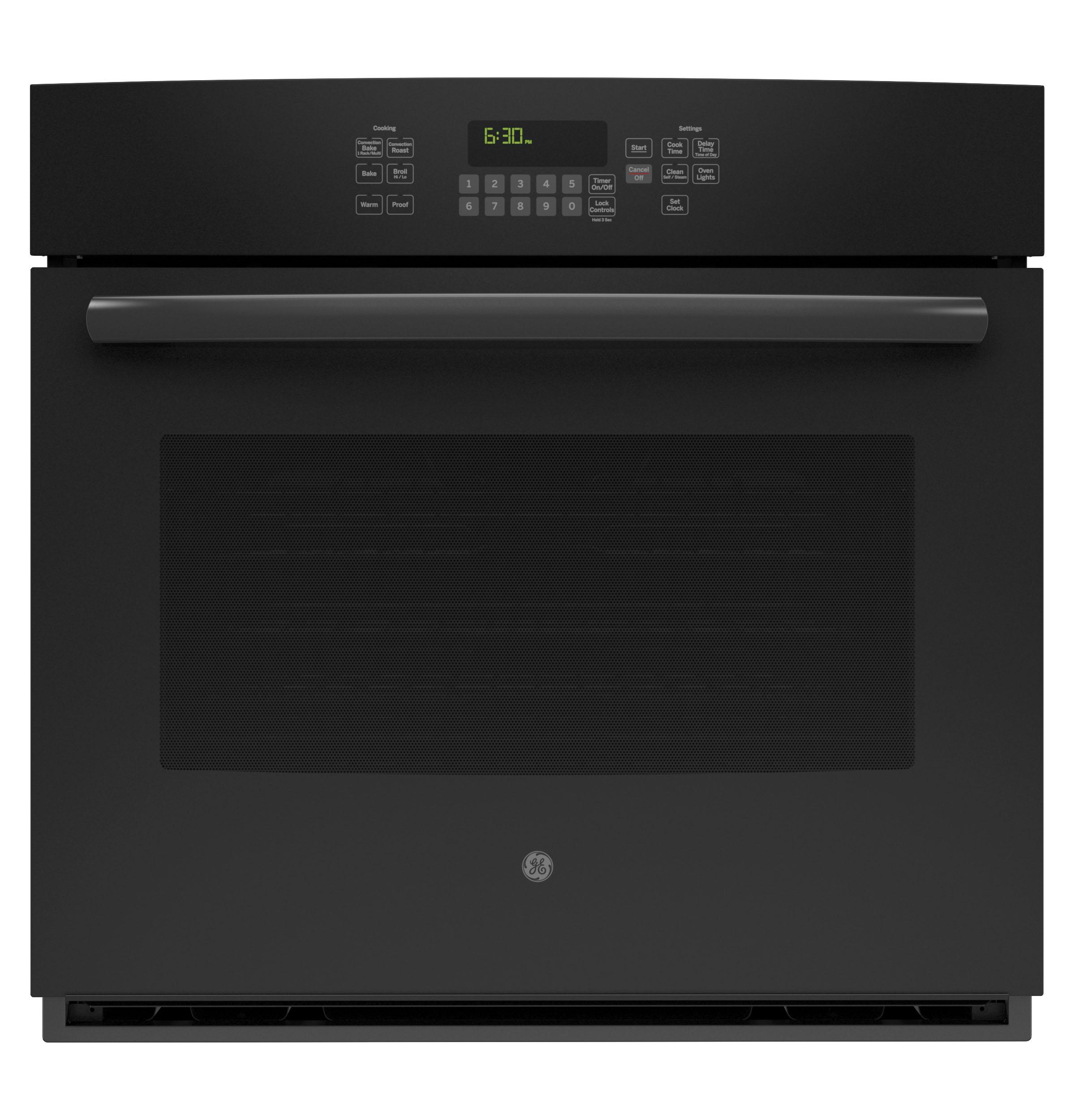 """GE(R) 30"""" Built-In Single Convection Wall Oven  Black"""