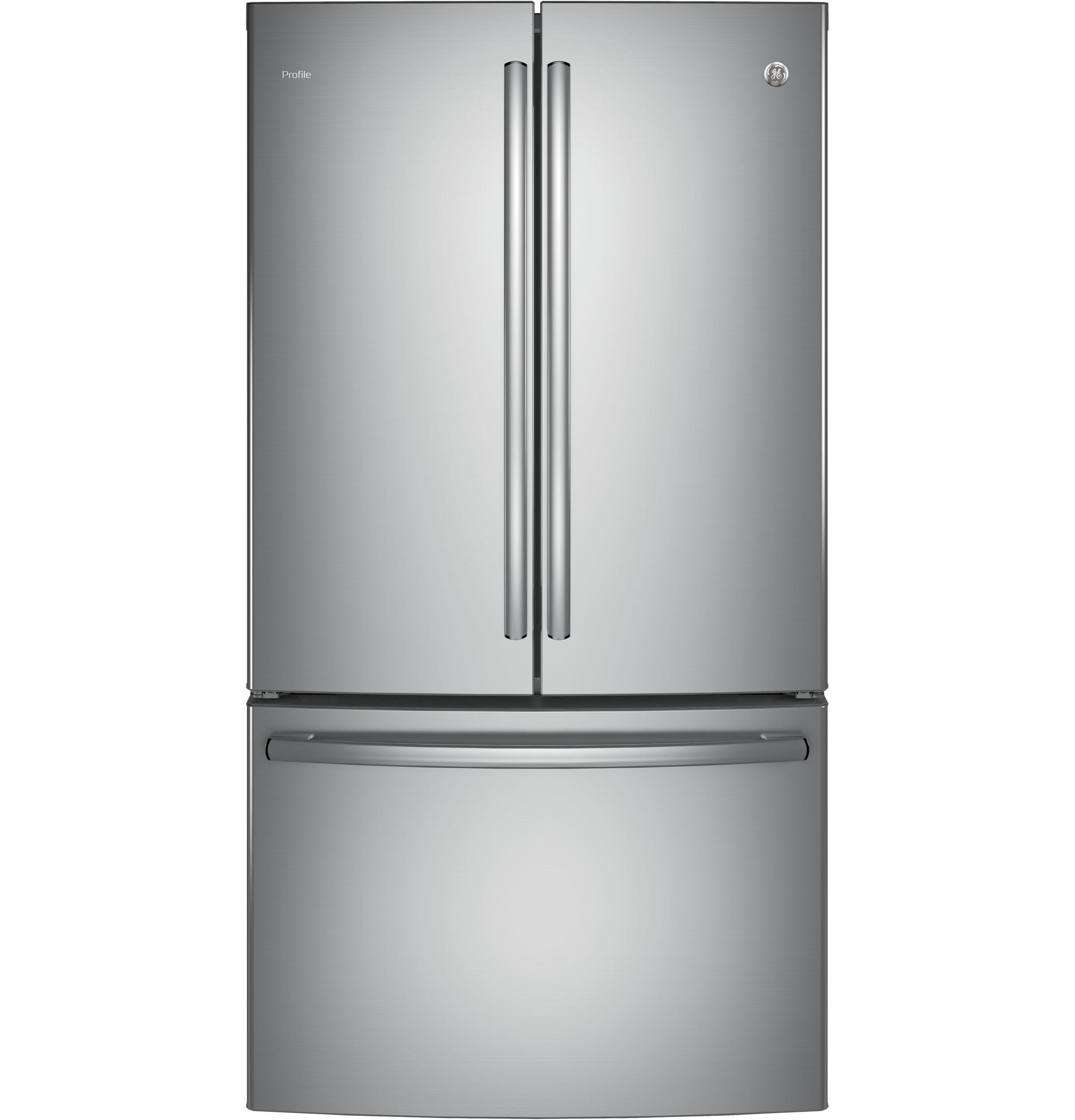 GE Profile(TM) Series ENERGY STAR(R) 23.1 Cu. Ft. Counter-Depth French-Door Refrigerator  Stainless Steel