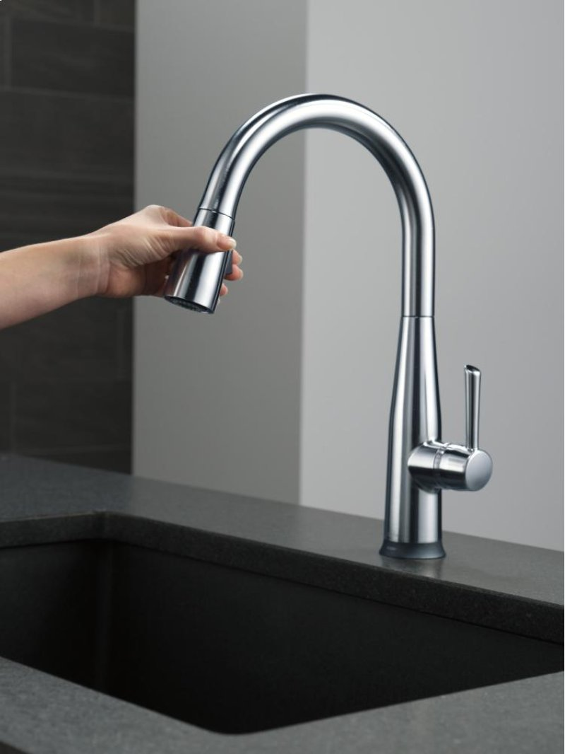 Touch Technology Kitchen Faucet 9113tardst In Arctic Stainless By Delta Faucet Company In Atlanta