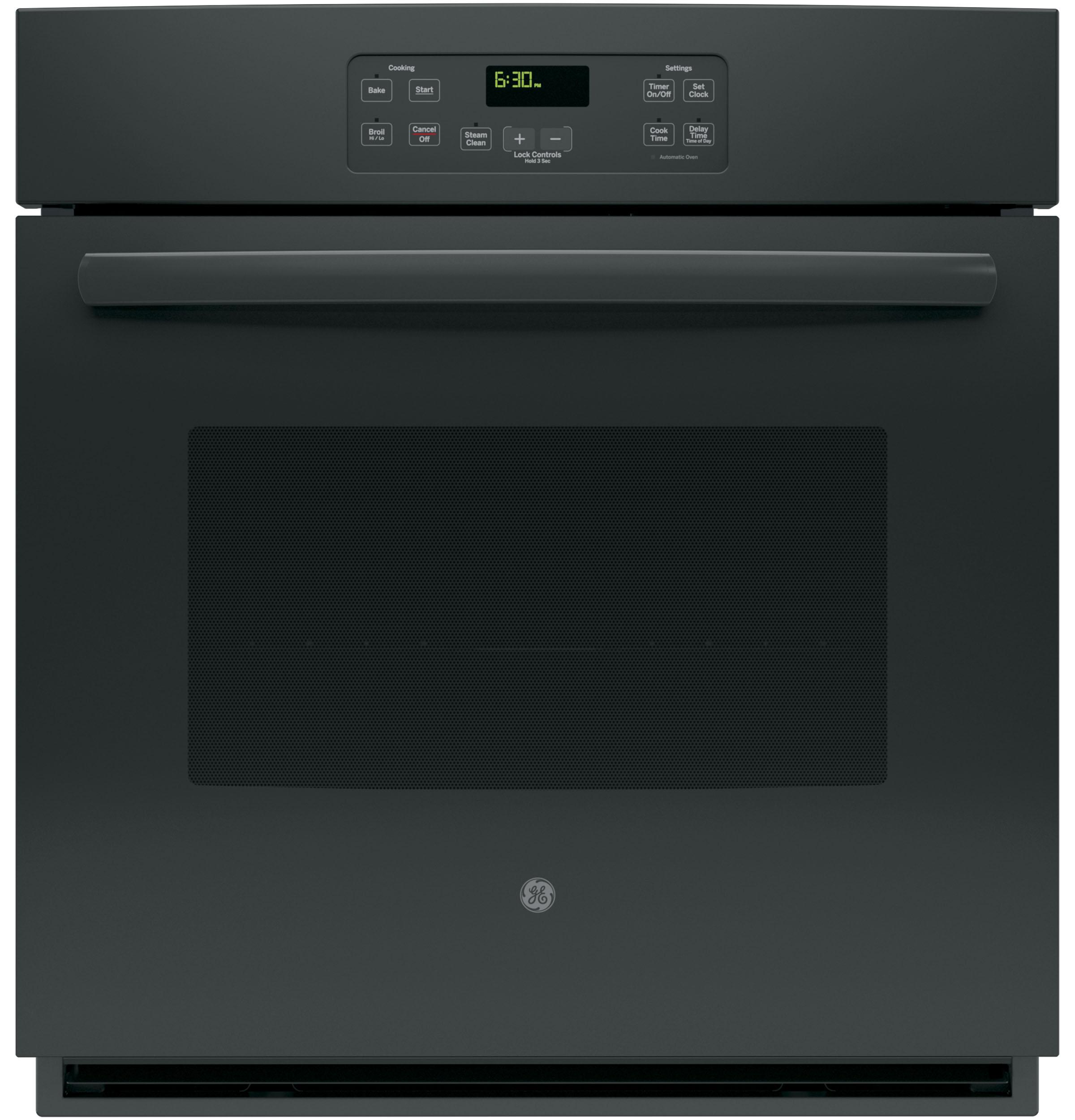 """GE(R) 27"""" Built-In Single Wall Oven  Black"""
