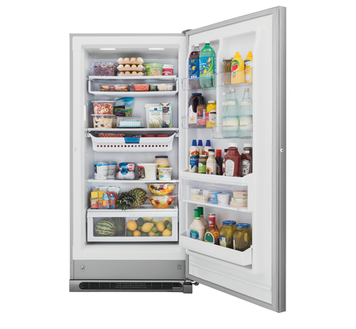 Frigidaire Gallery 20.5 Cu. Ft. 2-in-1 Upright Freezer or Refrigerator  Stainless Steel