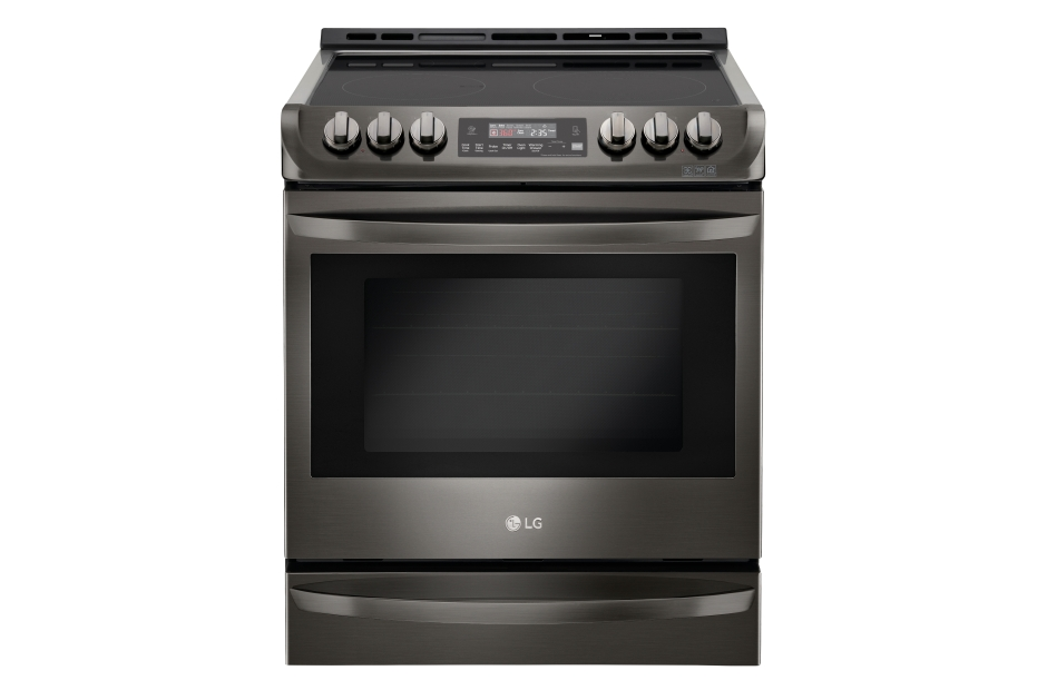 LG Black Stainless Steel Series 6.3 cu. ft. Electric Slide-in Range with ProBake Convection(R) and EasyClean(R)
