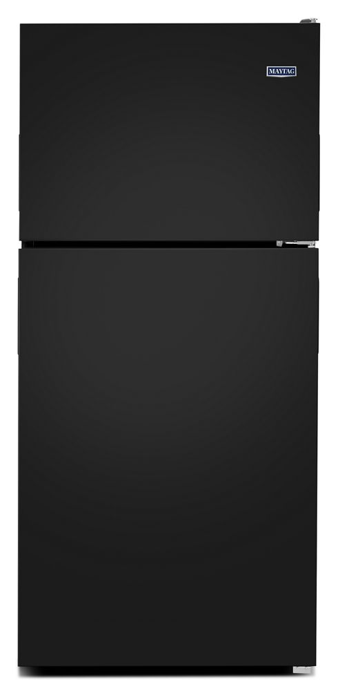 30-Inch Wide Top Freezer Refrigerator with PowerCold(R) Feature- 18 Cu. Ft.  Black