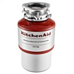 Kitchenaid3/4 HP Disposer, 1725 rpm, 26-oz. grinding chamber capacity, Continuous-feed operation