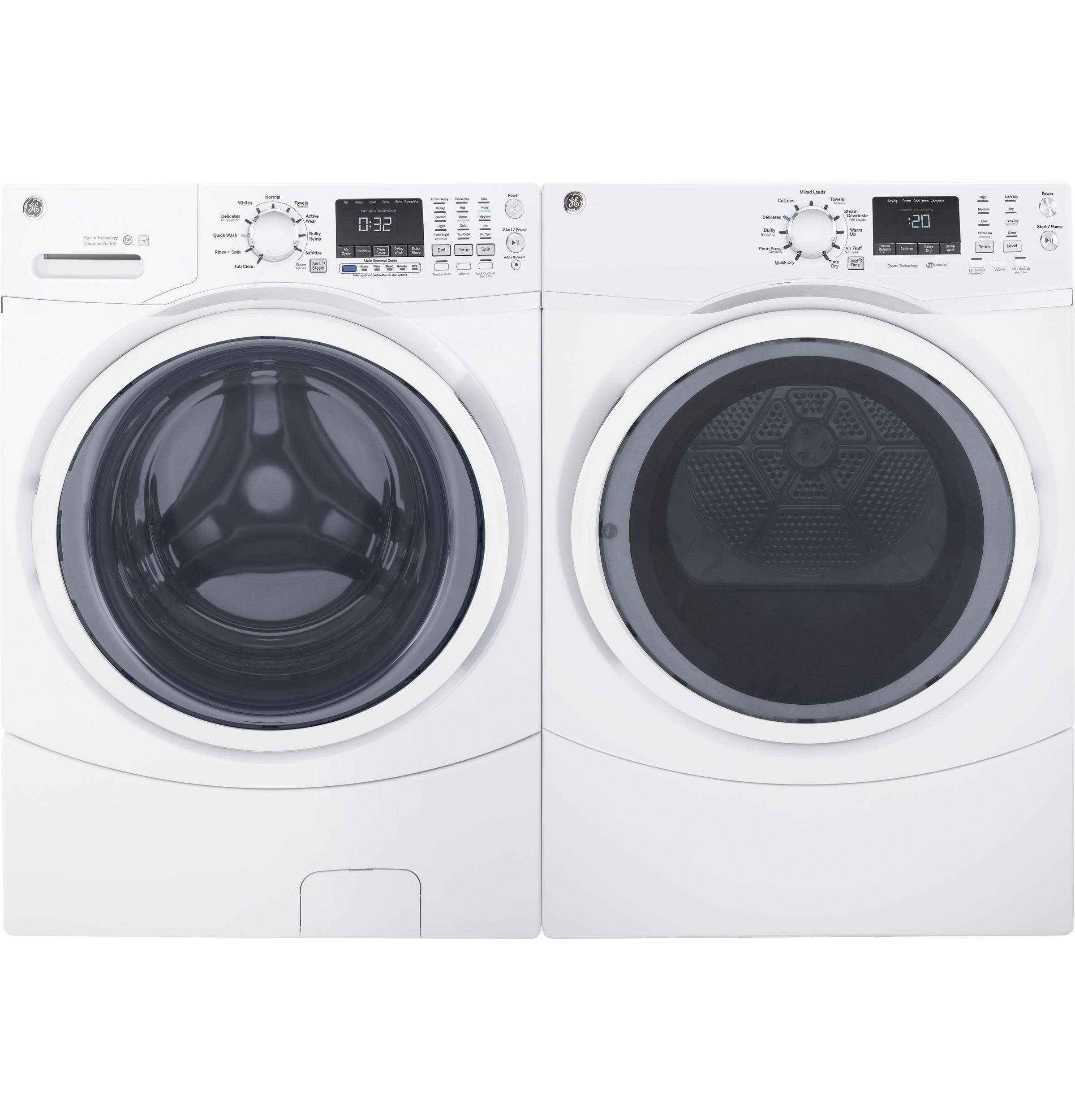 GE(R) ENERGY STAR(R) 4.5 DOE Cu. Ft. Capacity Frontload Washer with steam  White