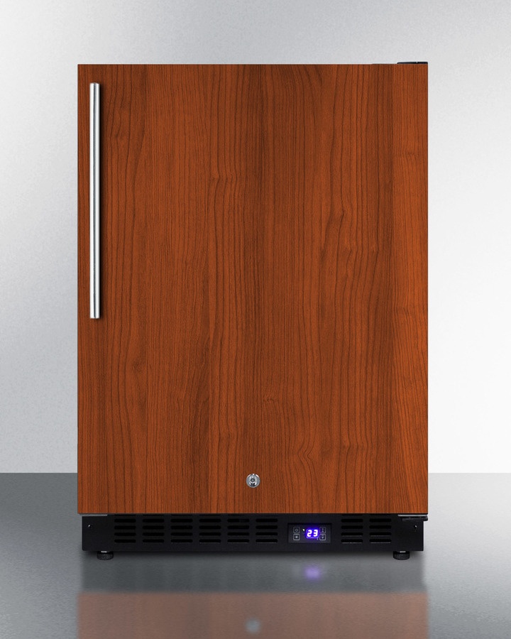 Frost-free Built-in Undercounter All-freezer for Residential Use, With Factory Installed Icemaker, Panel-ready Door, and Black Cabinet