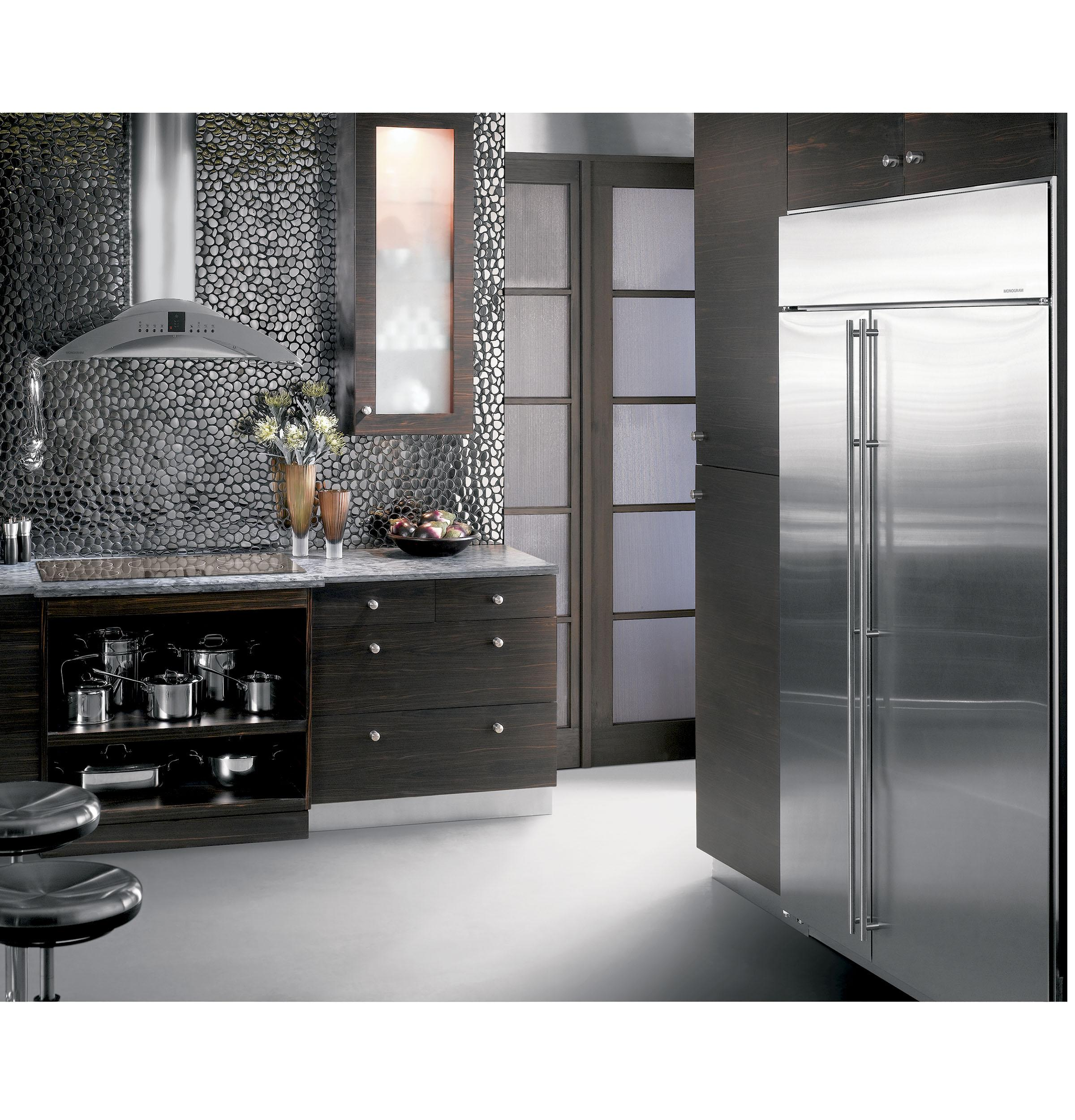 ge appliances monogram 42 built in side by side refrigerator ziss420nkss kieffer 39 s appliances. Black Bedroom Furniture Sets. Home Design Ideas