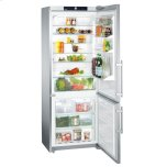 Liebherr30'' Counter Depth Bottom Mount Refrigerator, 15.5 Cu. Ft. Capacity, Energy Star Qualified, SuperQuiet, SuperCool, FrostSafe System, SuperFrost, 4 Glass Shelves, 3 Freezer Drawers, Gallon Door Storage, LED Lighting - Stainless Steel Right Hinge