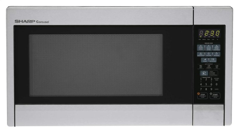 Sharp Carousel Countertop Microwave Oven 1.3 cu. ft. 1000W Stainless ...