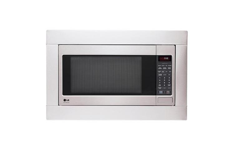 LG STUDIO - 2.0 cu. ft. Countertop Microwave Oven with EasyClean(R) and Optional Trim Kit  Stainless Steel