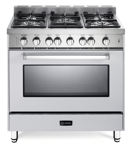 "White 36"" Gas Single Oven Range -"