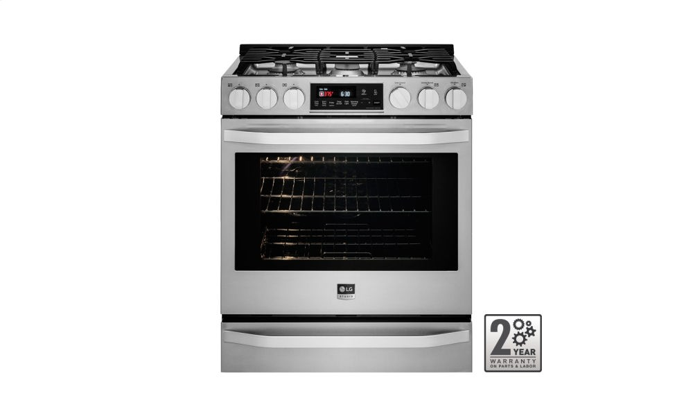 LG STUDIO - 6.3 cu. ft. Gas Slide-in Range with ProBake Convection(R)
