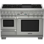 Thermador48 inch Professional Series Pro Grand Commercial Depth Dual Fuel Steam Range PRD48JDSGU