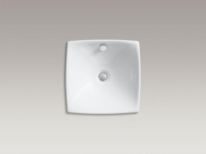 Blanco Sink Overflow : Kohler K190470 Studio41 White Vessel Bathroom Sink With Overflow