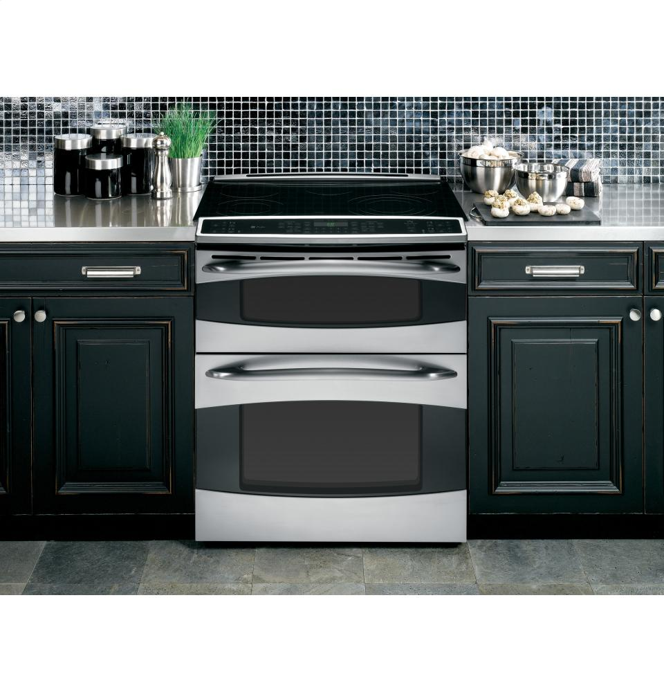 ps978stss ge profile tm series slide in double oven electric range