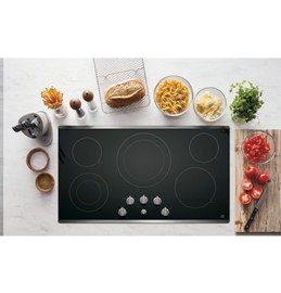 """36"""" Electric Cooktop With Knob Control  Stainless Steel"""