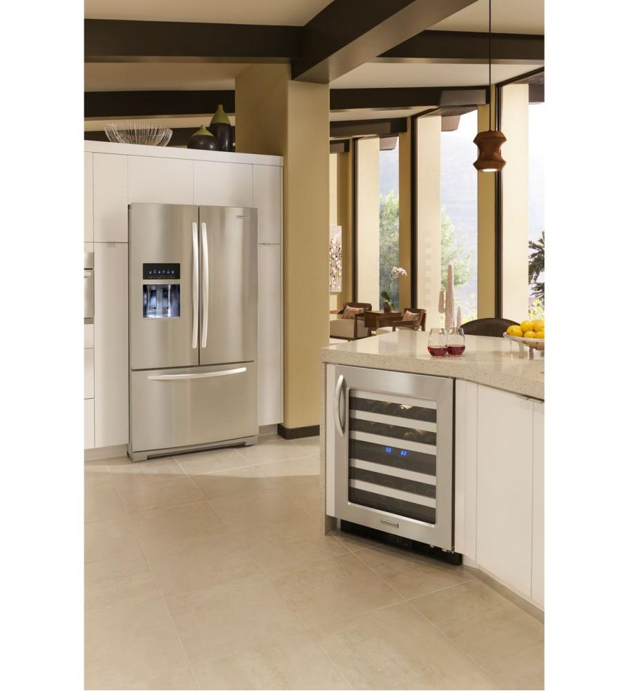 Kfis29pbms kitchenaid 27 cu ft standard depth french door refrigerator architect r series - Kitchenaid architect counter depth refrigerator ...