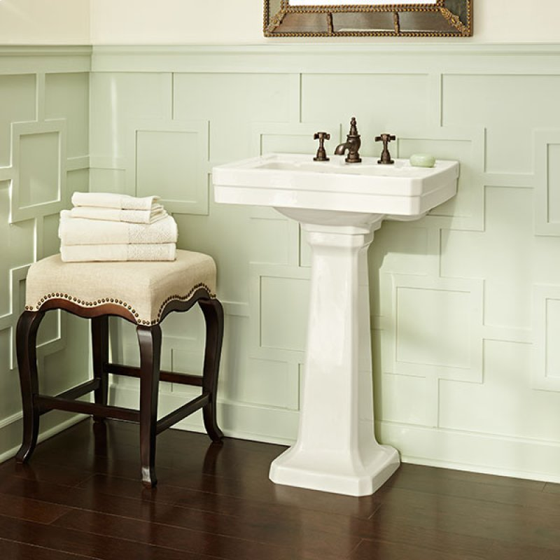 24 Inch Pedestal Sink : Fitzgerald 24 Inch Pedestal Bathroom Sink- Three Faucet Holes - Canvas ...