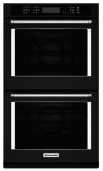 "27"" Double Wall Oven with Even-Heat(TM) True Convection - Black"