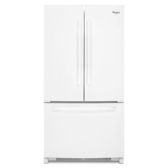 Whirlpool Wrf535swbw 25 Cu Ft French Door Refrigerator With Interior Water Dispenser White