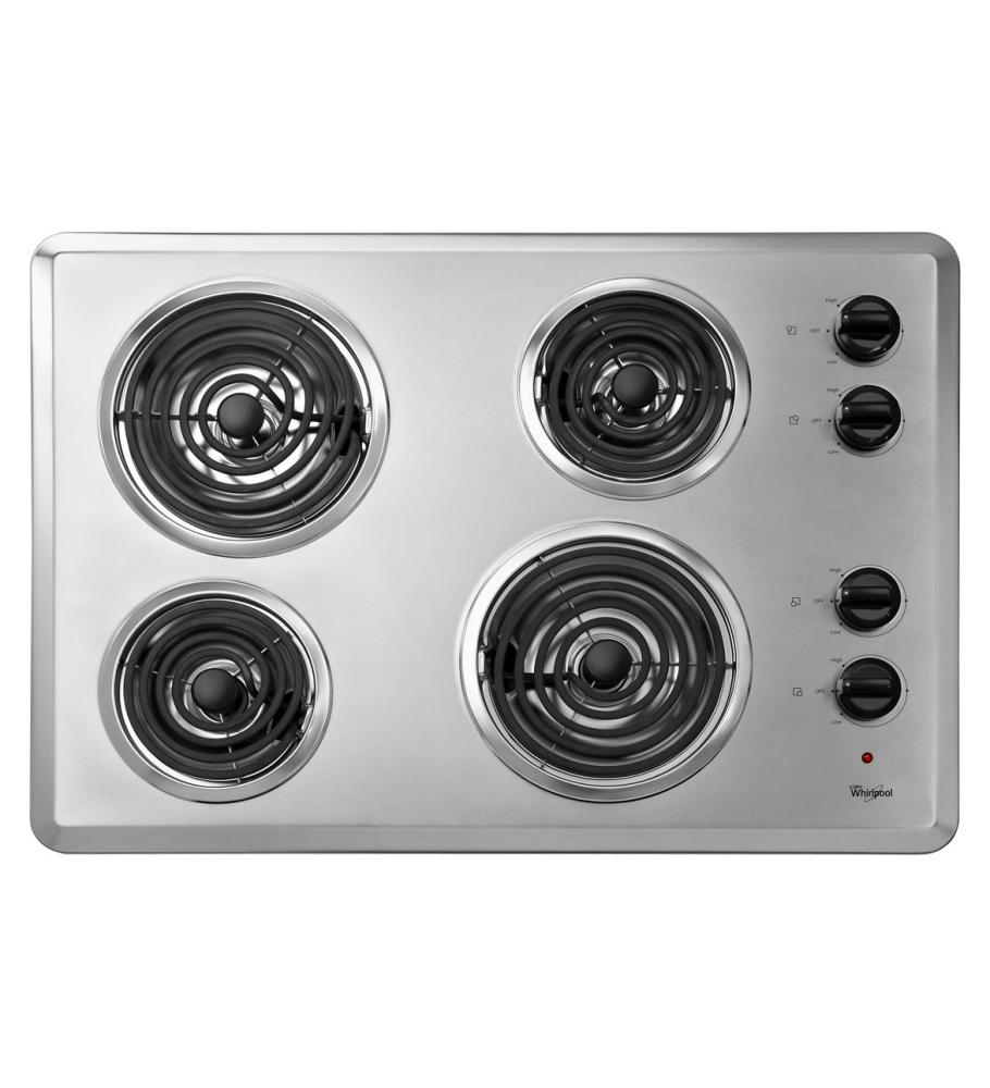 Discount Electric Cooktops ~ Wcc ab whirlpool quot electric cooktop with
