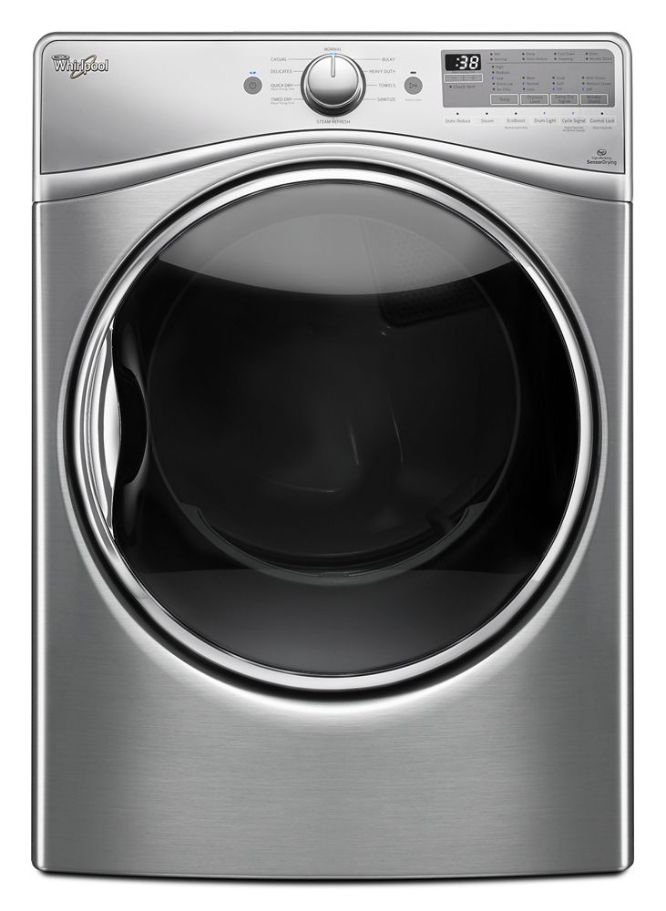 7.4 cu.ft Front Load Gas Dryer with Advanced Moisture Sensing, EcoBoost  Diamond Steel