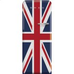 SmegSmeg 50'S Style Refrigerator with ice compartment, Union Jack, Left hand hinge