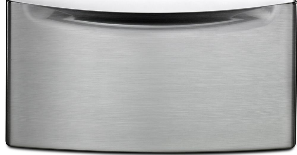 "15.5"" Laundry Pedestal with Chrome Handle and Storage Drawer