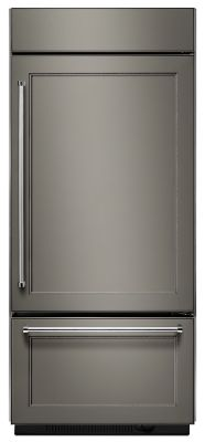 """20.9 Cu. Ft. 36"""" Width Built-In Panel Ready Bottom Mount Refrigerator with Platinum Interior Design  Panel Ready"""