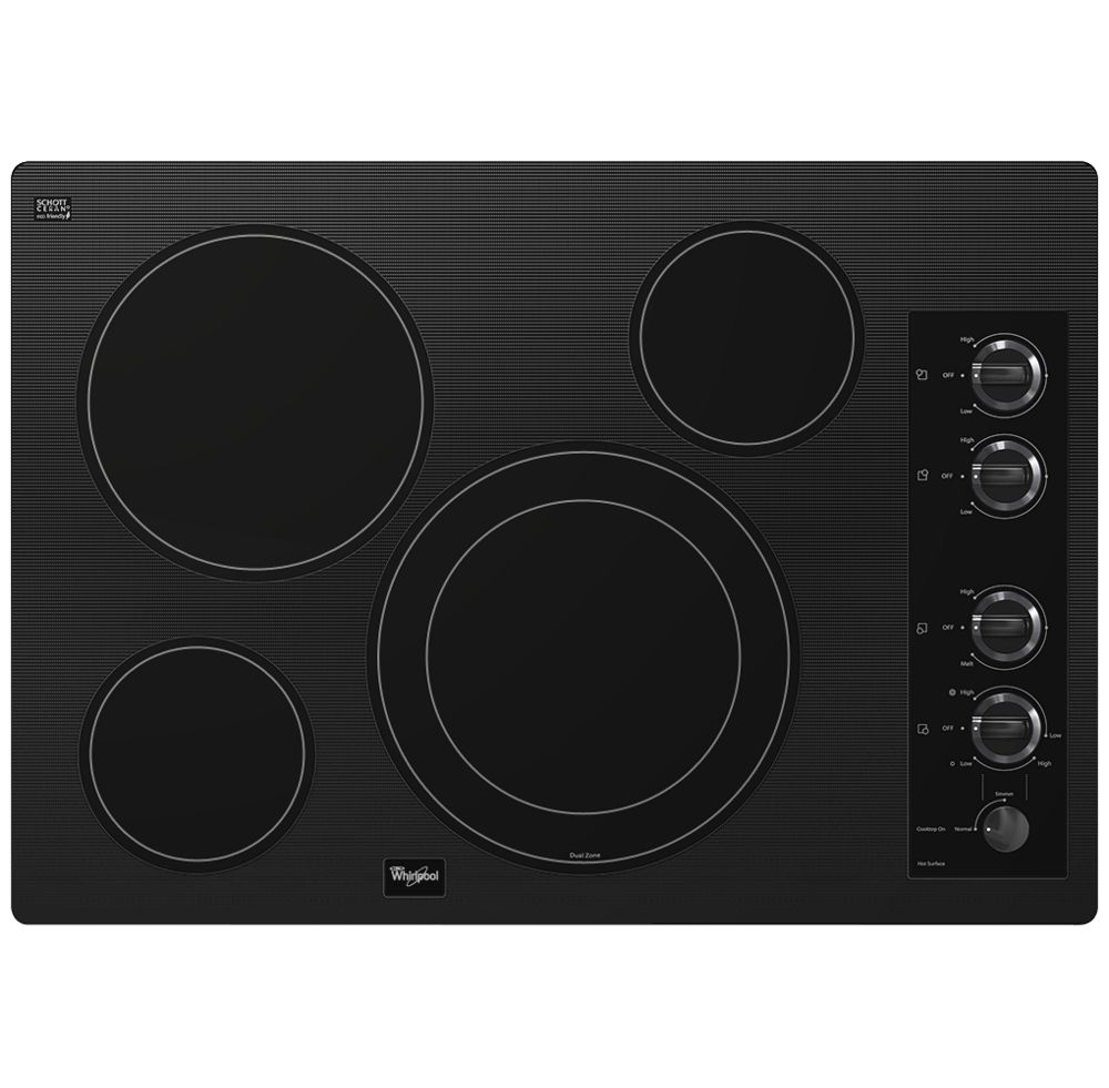 "Gold(R) 30-inch Electric Ceramic Glass Cooktop with 12""/9"" Dual Radiant Element