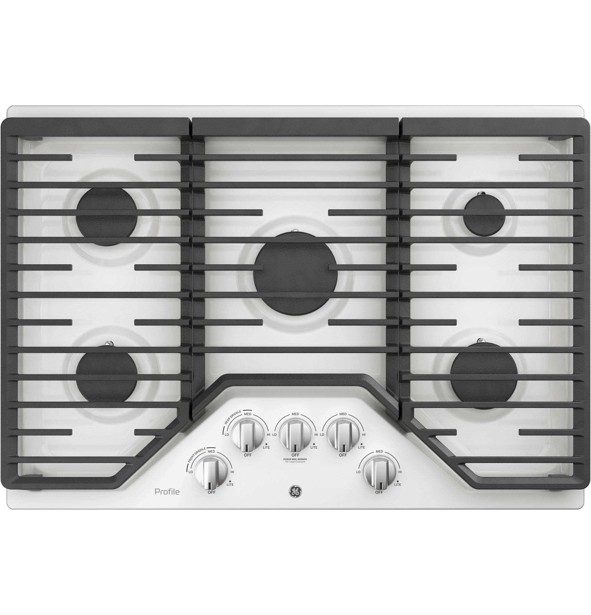 "GE Profile(TM) Series 30"" Built-In Gas Cooktop
