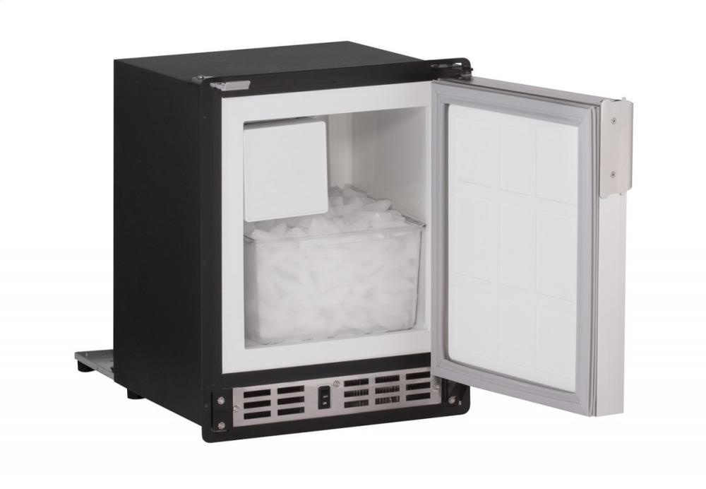 "Marine Series 15"" Marine Crescent Ice Maker With White Solid Finish and Field Reversible Door Swing