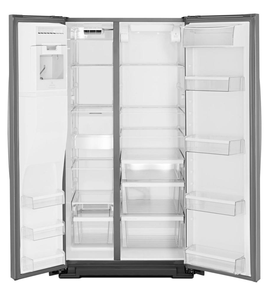 Wrs576fidm whirlpool 36 inch wide side by side refrigerator with temperature control 26 cu ft - Whirlpool side by side ...