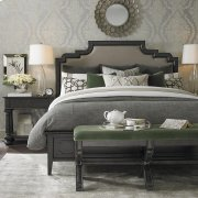 King/Smoked Oak Emporium Upholstered Bed Product Image