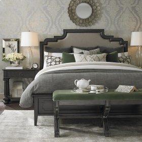 King/Smoked Oak Emporium Upholstered Bed
