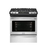 FrigidaireGALLERY�1 Effortless� Extendable Rack  �Even Baking Technology  �Steam Clean Option �True Convection System  �Vari-Broil� - 400 to 550 Degrees