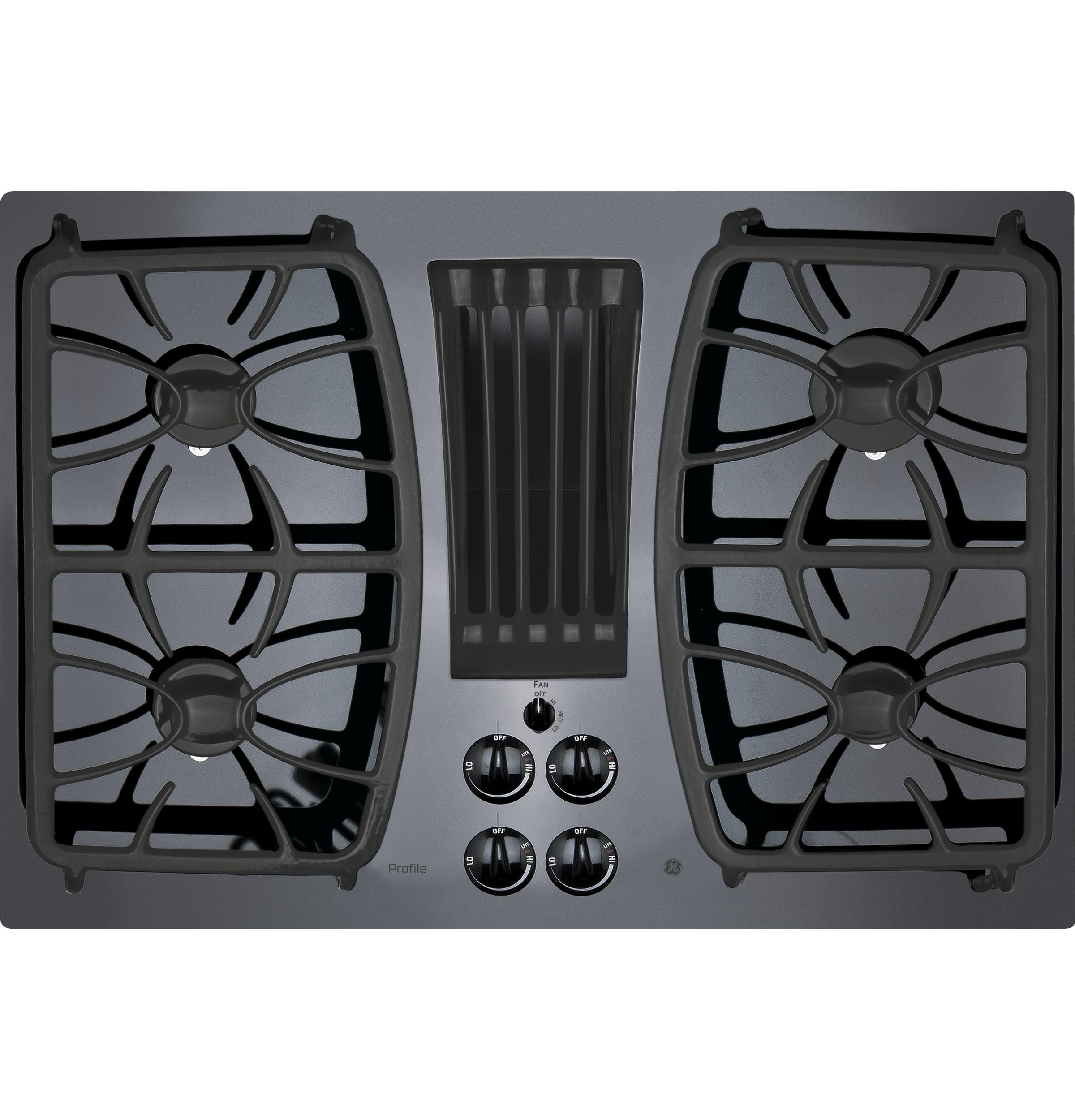 "GE Profile(TM) Series 30"" Built-In Gas Downdraft Cooktop