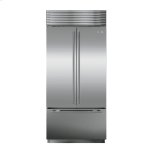 Sub ZeroSub Zero BI-36UFD Over-and-Under with French Door - Classic Stainless Pro Handle