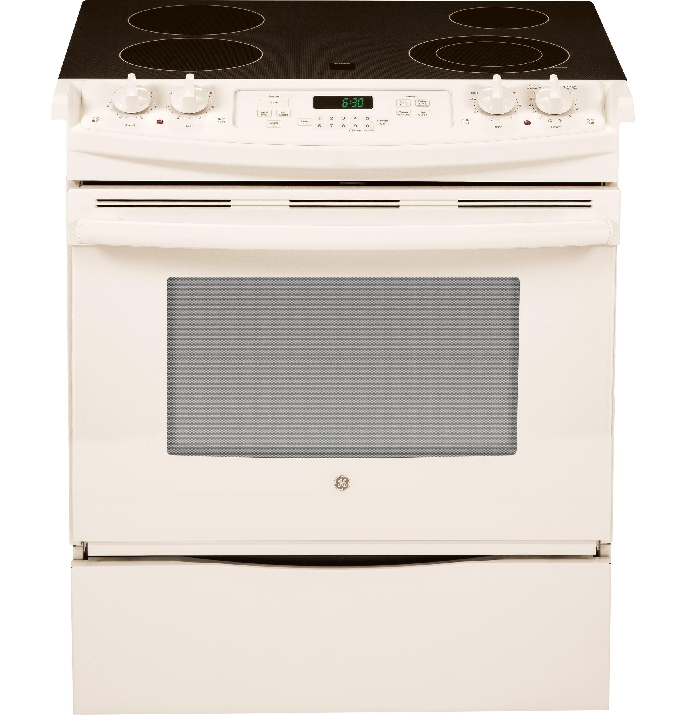 "GE(R) 30"" Slide-In Front Control Electric Range