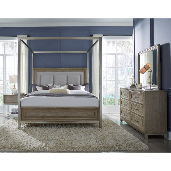 Park Place Queen Canopy Bed Headboard