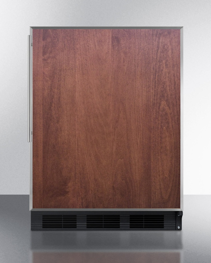 Built-in Undercounter All-refrigerator for General Purpose Use, Auto Defrost W/ss Door Frame for Slide-in Panels and Black Cabinet