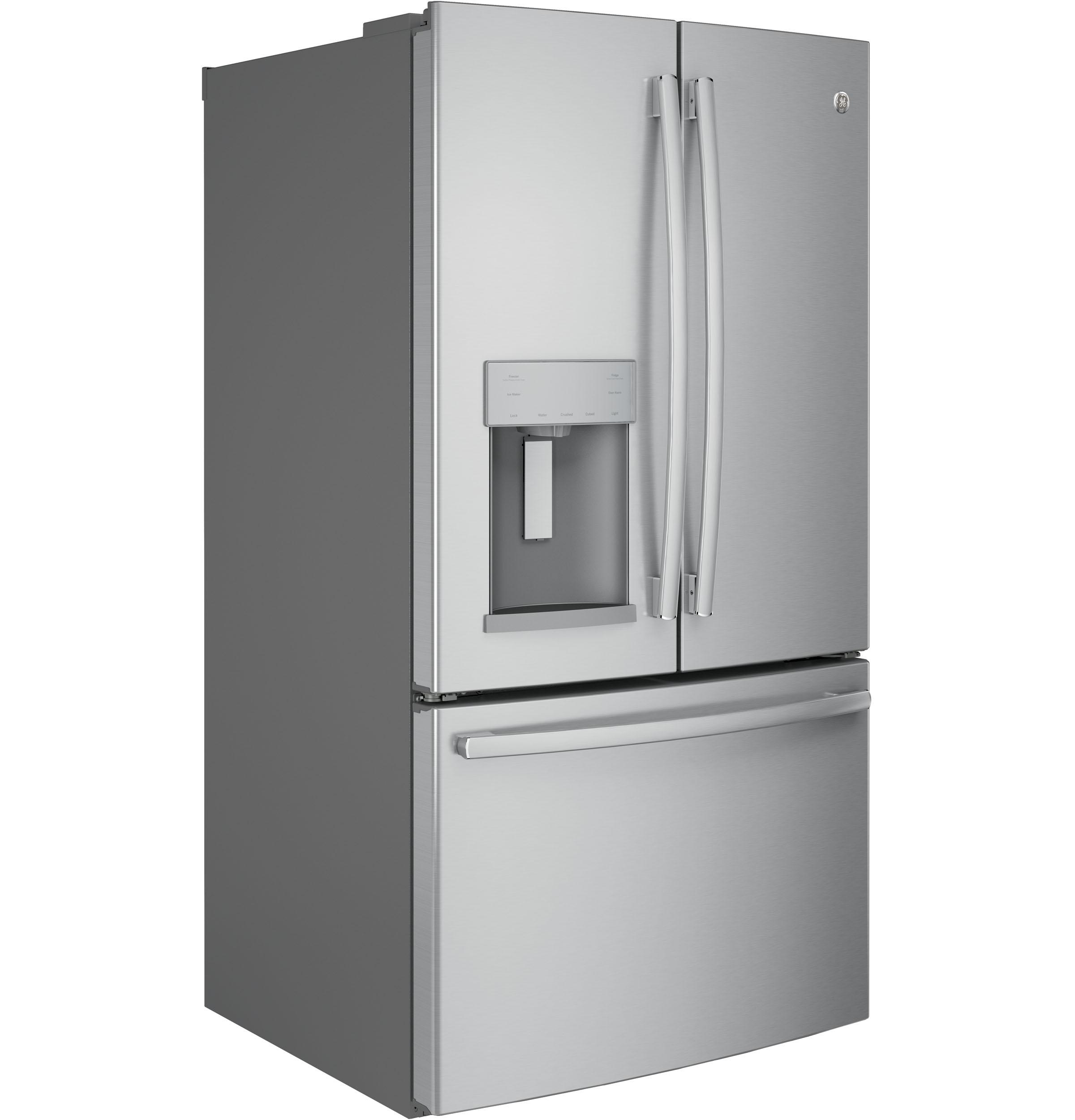 Gfe26gskss Ge 36 25 8 Cu Ft French Door Refrigerator With Exterior Ice Water Stainless